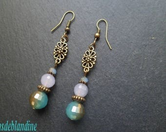 jewelled tones turquoise earrings