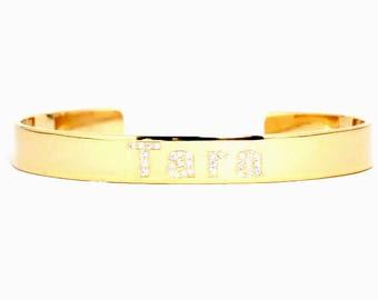 Personalized Bangle Bracelet / Cuff