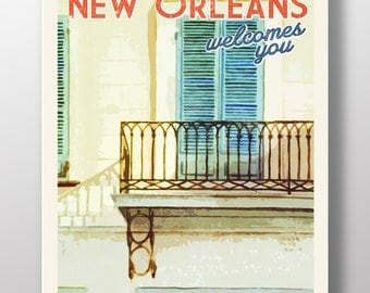 Girod House - New Orleans Travel Poster - 11X17 - Wall Art Print - Poster Print - Travel Poster - Travel Art - New Orleans Poster - Napolean