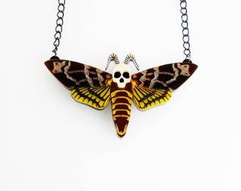 Death's head hawk moth necklace