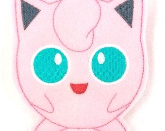 Jiggle Pink Monster Finger Puppet - Finger Puppets - Quiet Toy - Christmas gift - Stocking Stuffer - Embroidered Felt Finger Puppet