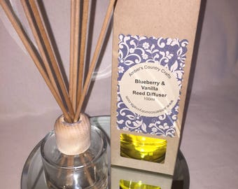 Reed Diffuser  100ml  Blueberry  & Vanilla,  new home , home fragrance