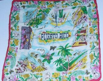 Vintage Puerto Rico Silk Women's Scarf