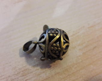 Bronze Ball pendant, hiding place for jewelry making