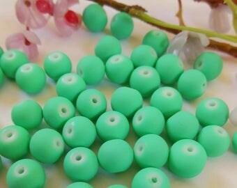 set of 12 round acrylic beads