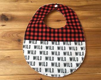 Baby/Toddler Bib ~ Woodland//Camp//Adventure//Tribal//Native//WILD//Plaid