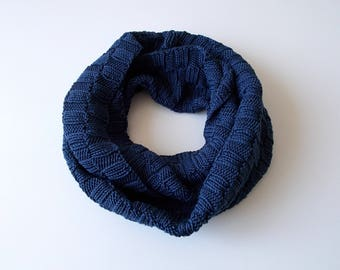 Scarf Round Scarf Endless Scarf Knitted Knitting Patterned Pattern Handwork
