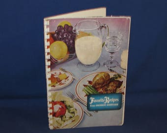 COOKBOOK Favorite Recipes from America's Dairyland 1950s Wisconsin