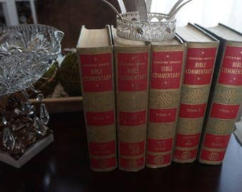 Vintage, Set of Five Seventh-Day Adventist Bible Commentary Chronicles