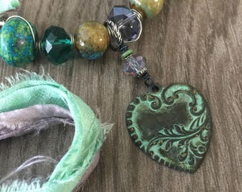 Hearts and Ivy Necklace