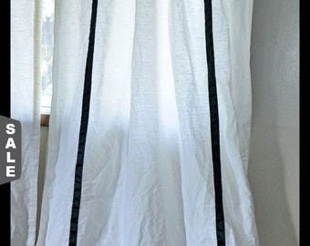 Solid Color Curtains With Ribbon Detailing, Designer Your Own Design, Greek  Key Curtains,
