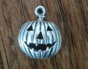 Sterling silver Jack O Lantern Pumpkin