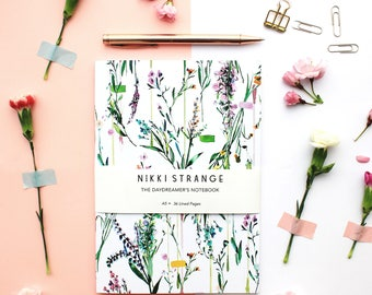 Fleur Botanique  A5 Notebook with lined pages