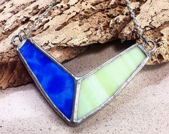 Geometric Stained Glass Necklace