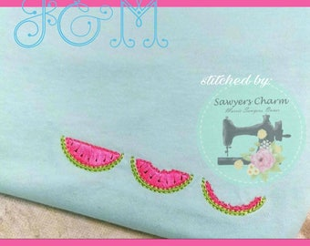 Satin Watermelon Trio Machine Embroidery Design