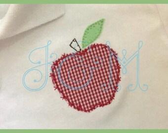 Cross Stitch Apple Applique Vintage Style