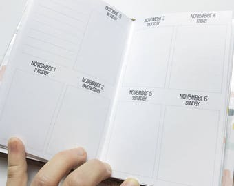 Traveler's Notebook POCKET Size Week on Two Pages in VERTICAL Layout {Q2 | April-June 2018} #600-32