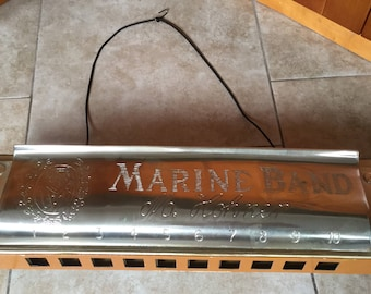 Vintage Giant Horner Harmonica Store Display Sign