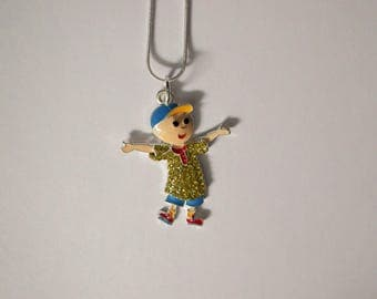 TIN TIN Inspired Large Charm Necklace