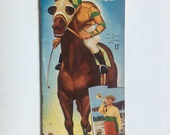 Vintage, Rare, Del Mar Turf Club Official Program, August 21, 1954, with Baedeker Guide.