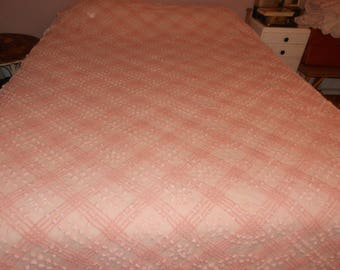 Chenille Bedspread for Cutting - 2 Tone Pink Chenille - Cutter