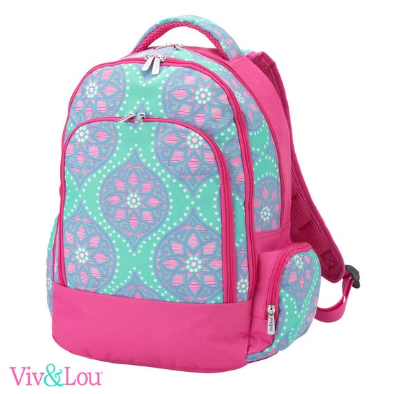 Marlee floral backpack parker paisley bookbag embroidered bookbag paisley backpack back to school girls backpack monogrammed backpack