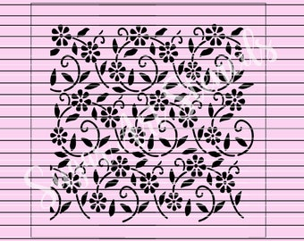 Floral stencil background pattern MC040