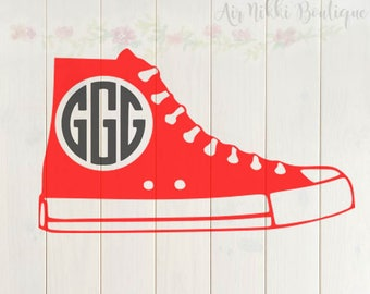 Converse, chuck t shoe, shoe for monogram, (Shoe only) SVG, DXF, PNG files, instant download