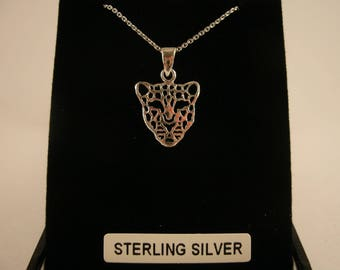Sterling Silver Tiger Pendant Necklace Irish Jewellery