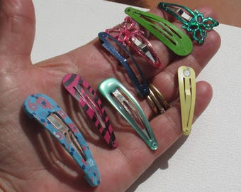 Lot Of Retro Assorted Girls  Metal Barrettes