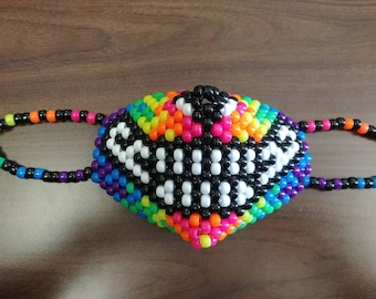 Rainbow Kitty Smile Kandi Mask