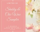 Shabby Chic Wax Melts Sampler- Shabby Chic Wax Melts Shape - Set of 7 Wax Melts Shape -  Wax Melts Sampler