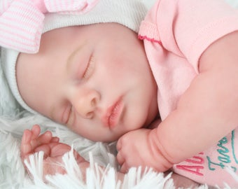 Realborn Sleeping Evelyn Reborn Baby Doll  NO HAIR Ready to Ship