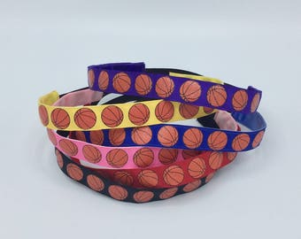 Girls Basketball Headband Women, Basketball Sports Headbands for Girls, Choice of Color & Size, Athletic Headband Adult Basketball Gifts