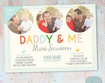 ON SALE Daddy and Me Mini Session template - Photoshop - IF007- Instant Download
