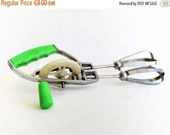 ON SALE Kitchen Mixer, Vintage Home Decor, GP Green Manual Mixer