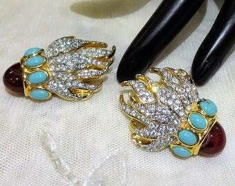 Beautiful Vintage Elizabeth Taylor for Avon  Eternal Flame Earrings