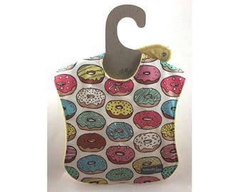 Baby girl bib, baby bib, leak proof bib, 1st birthday bib, donut bib, shower gift, rainy day, ready to ship, cake bib, shoulder bib