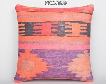 purple pillow cover purple pillow case purple throw pillow purple decorative pillow purple cushion cover purple kilim pillow cover 87-40