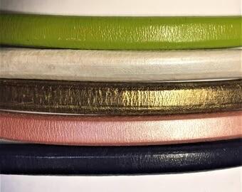 "Shorts: 5 Strands licorice leather bundle, 6"" each, Colors as shown, #17 bundle"