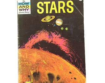The How and Why Wonder Book of Stars / Vintage Wonder Paperback / Book on Stars / Astronomy Book / Homeschool Book