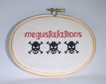 Megustalations Last Podcast on the Left Cross Stitch, True Crime Gift