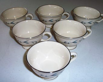 Pickard China Vintage Snowberry Set Of Six Footed Cups