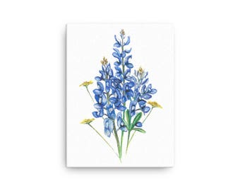 Bluebonnets and Wildflowers Canvas