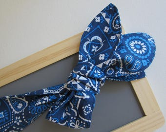 Womens bandana - country girl headband - head wraps - tie up head scarf - rockabilly - top knot headband - retro fashion accessories