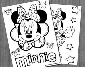 FLASH SALE Minnie Coloring Pages
