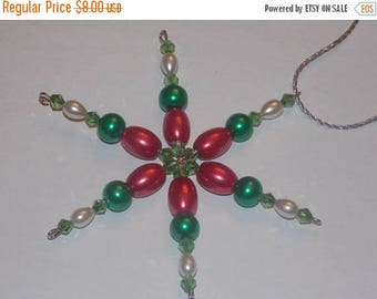 15%OFF Red Barrel Glass Pearl Green Glass Pearl White Pearl Green Crystal Christmas Snowflake Star Ornament
