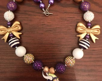 Minnesota Vikings Football inspired Bubble Gum Necklace - Two Styles (Adult/Teen).