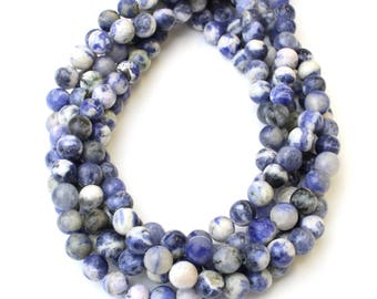 8mm Sodalite for Necklaces Spiritual Health and Wellness Beads or Mala Jewellery on 16 inch strand