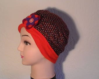 Stretchy reversible chemo hat, woman, girl, mid season, summer
